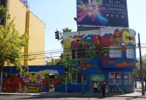 Bellavista street art, Santiago, Chile