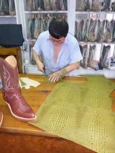 We stumbled upon D'Angelo Botas - making crocodile skin boots, Santiago