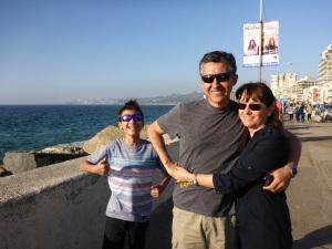 Sebastian, Carlos and Jessica at Valparaiso, Chile