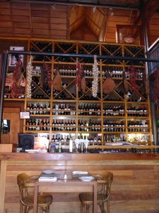 The backdrop to the main counter at Lola restaurant, Temuco, Chile