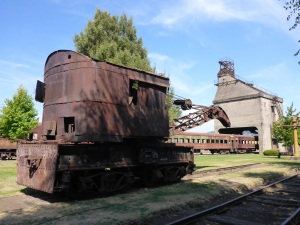 Steam crane and coaling station at the railway museum, Temuco