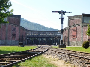 Museo Nacional Ferroviario at Temuco, Engine Roundhouse