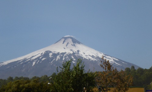 Villarrica volcano is definitely smoking today