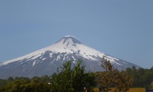 Villarrica volcano is definitely smoking today