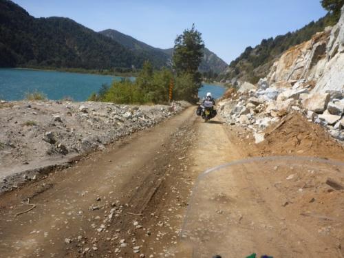 The road to the border follows Rio Trancura