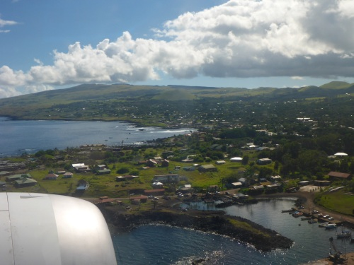 Hanga Roa, the only town on Easter Island