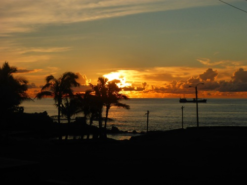 Sunset at Hanga Roa