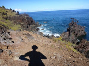 Anne's walk along the western coast of Rapa Nui