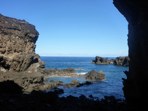 Ana Kai Tangata cave on Rapa Nui