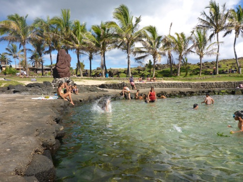 One of the many ponds in Hanga Roa