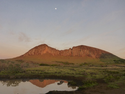 Rano Raraku at sunrise