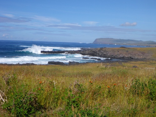 Easter Island's south coast  near Ahu Akahanga