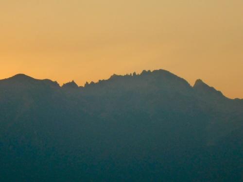 San Carlos de Bariloche at dusk