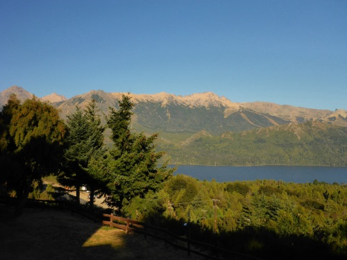 San Carlos de Bariloche in the morning from our hotel