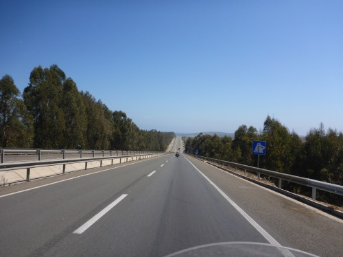 We are finally heading north of Santiago on Ruta 5