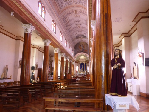 Inside the Iglesia Inmaculada Conception in Vicuña