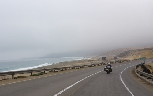 It is cool today heading north of La Serena