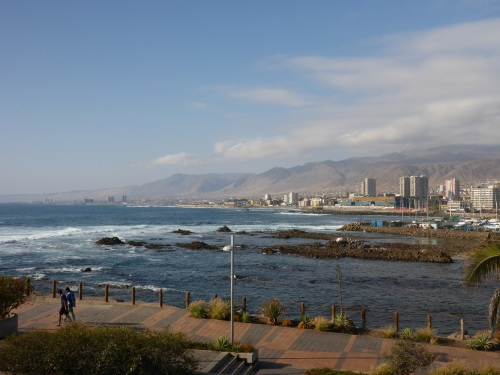 The Andes coming into the ocean at Antofagasta