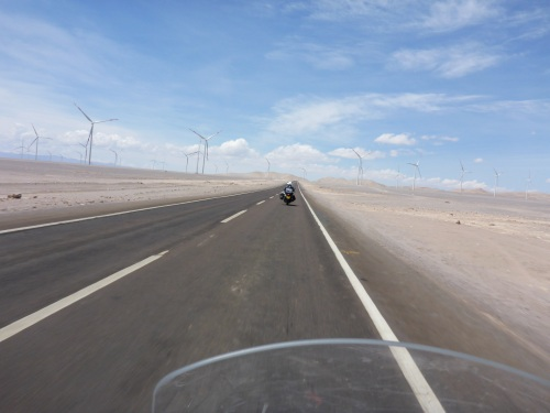 More windfarms means more wind on our way to San Pedro de Atacama