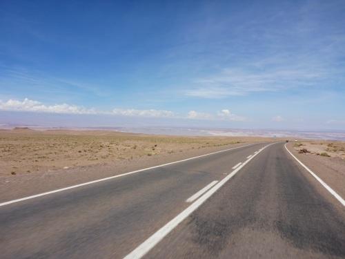 Our first glimpse of the Salar de Atacama
