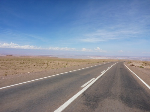 Our first glimpse of the Salar de Atacama