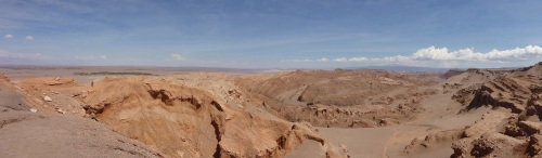 Photos cannot capture what the eye does - part of the Salar de Atacama