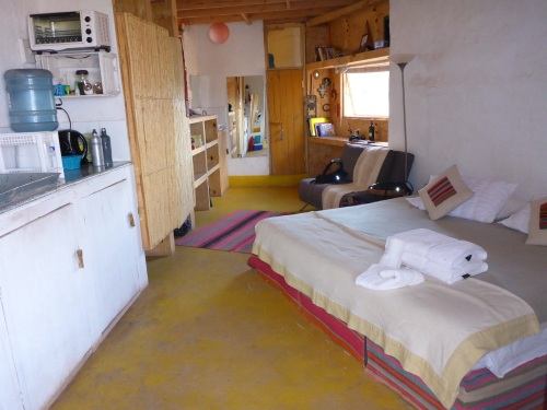 Inside our Atacama Loft cabin