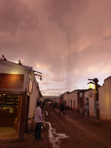 Storm shower at San Pedro on our first night