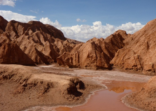 Valle de la Luna after rain for 2 days