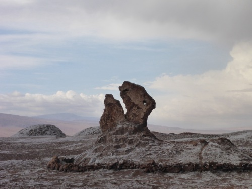 Rock formations in the Valle de la Luna