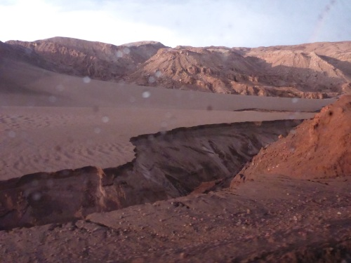 The rain is quickly leaving its mark in the Valle de la Luna