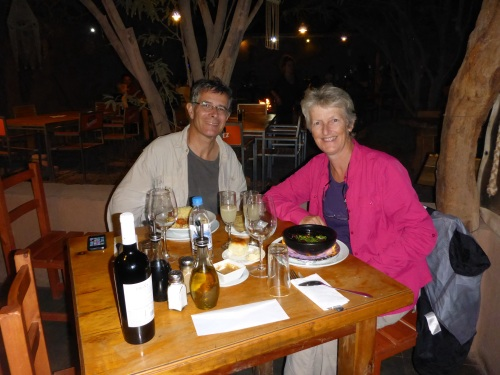 A great meal out at San Pedro de Atacama