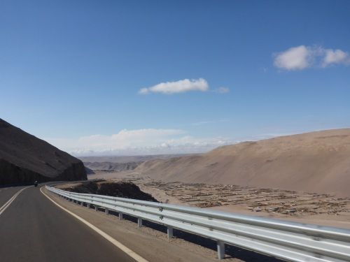 Riding down towards Arica