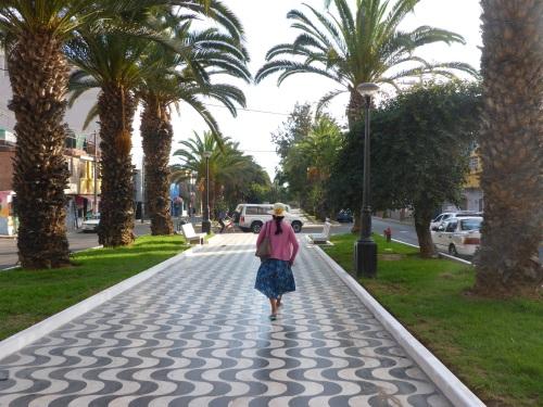 Alameda Bolognesi walkway in Tacna