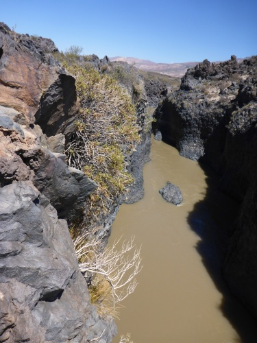 Lava canyon on our way to Las Loicas, Argentinia