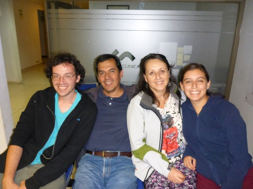 Diego, Ricardo, Marta and Monserrat - a beautiful family guided us to the clinic in Talca