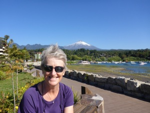 In Pucón with Villarrica volcano in the background