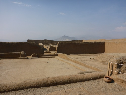 Chan Chan palace, walls originally 8 meters high.