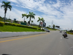 Roundabouts in Ecuador are beautiful