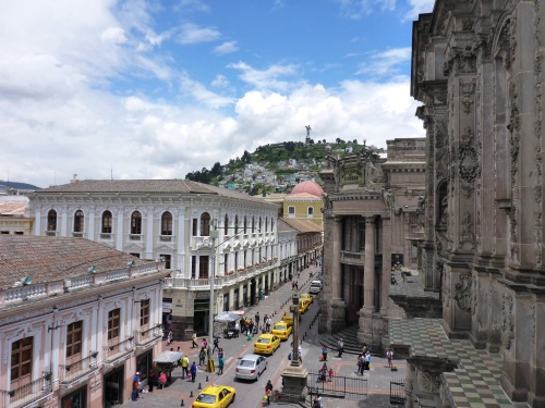 A rooftop view of Quito
