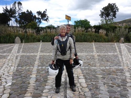On the equator in Ecuador