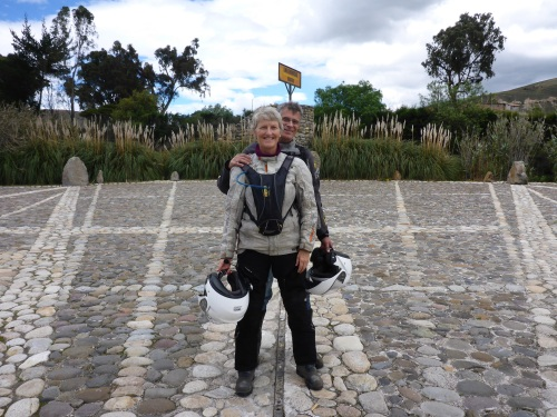 On the equator in Ecuador