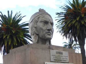 Inca warrior Rumiñawi, Otavalo, Ecuador