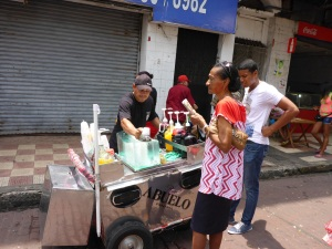 Shaved ice drinks seller, Panama City