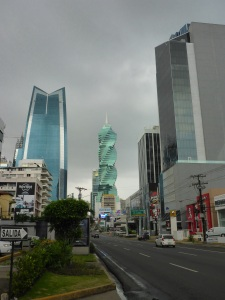 Panama City with the Revolution Tower in the centre