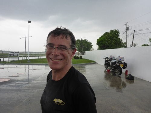 One of the 2 drowned rats while waiting for rain to stop.