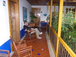 Just relaxing at our Finca Hotel El Laurel, Colombia