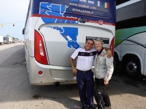 Alberto, the friendly Tica  bus driver
