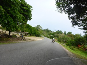 The Panamwrican highway in Costa Rica, past Rio Claro