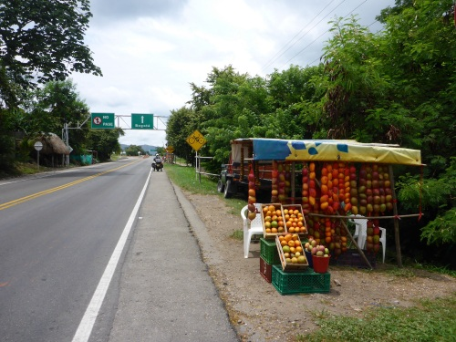 Colombia is colourful in so many ways - fruit, foliage, road signs